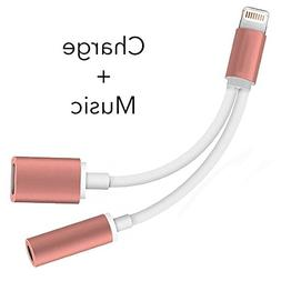 2 in 1 iPhone 7 Adapter & Splitter,  Adapter and Charger, to