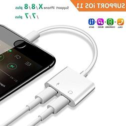 2 in 1 Lightning Headphone Jack and Charger Adapter for iPho