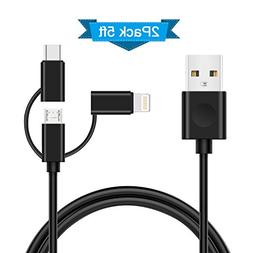 3 in 1 Multiple Cables, Elktry Multi Chargers Certified for