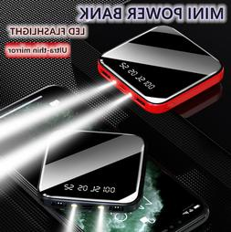 10000mah portable power bank mini lcd led