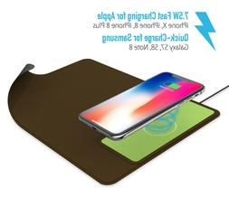 10W Qi Wireless Fast Charging Charger 2in1 For Cell Phone &