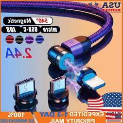 180 360 rotate magnetic phone cable micro