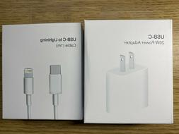 18w Charger USB-C Power Adapter adn Cable OEM APPLE Fast iPh