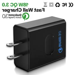 18W QC 3.0 Fast Phone Charger Adapter Wall Plug Tablet for S