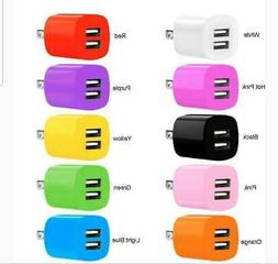 2.1A/1A 2 Dual Port USB Portable Travel AC Plug Wall Power A