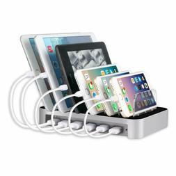 2.4A USB Charging Station Cell Phone Tablet Charger Organize