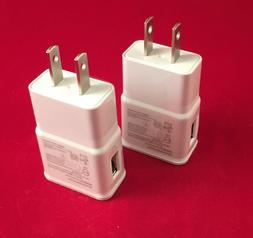 2 amp Cell Phone Wall Charger White/Black for SAMSUNG GALAXY