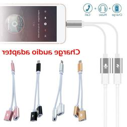 2 in 1 Adapter Aux Audio Port For Lighting Phone and iPhone