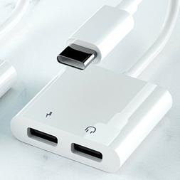 2 in1 Type C Aux Audio Charger Headphone Splitter Adapter Co