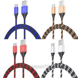 2 Pack 3 6FT 10FT Long Type C Cable Heavy Duty Charger For S