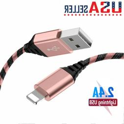 2 Pack 6FT Lightning Charger Cable Heavy Duty Data Cord For