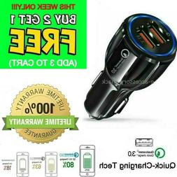 2 port usb fast car charger 3