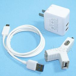 2-Port USB Power Adapter Car Charger Cable Connector for HTC