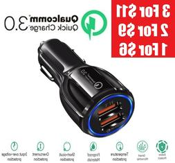 2 Port USB QC 3.0 Fast Car Charger for iPhone Samsung Google