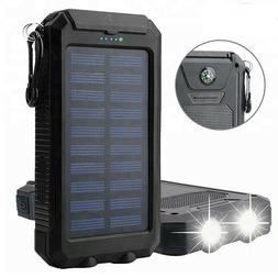 Solar Power Bank with Battery 12000 mAh Recharge Two Phones
