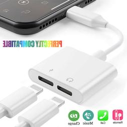 2in1 Adapter For Apple iPhone X 8 7 7Plus Splitter Audio Ear
