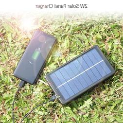 ALLOYSEED 2W Solar Panel <font><b>Charger</b></font> with Ba