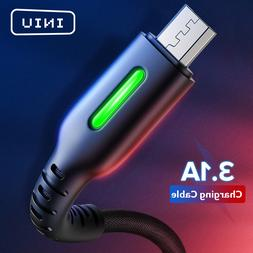 INIU 3.1A Micro USB Type C Cable LED Android Mobile Phone Ch