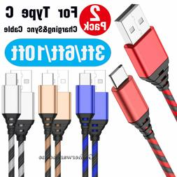 3/6/10 FT Heavy Duty Nylon Braided USB Type C Charger Cable