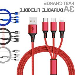 3 in 1 fast usb charging cable