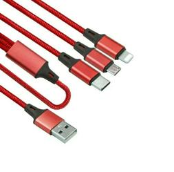 3 in 1 Fast USB Charging Cable Universal Multi Function Cell