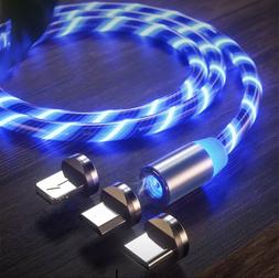 3 In 1 Magnetic LED Phone Charger Cable.