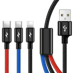 3 IN 1 TYPE C LIGHTNING FAST MICRO-USB CHARGING CABLE CELL P