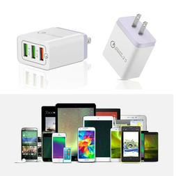 3 Port QC 3.0 Fast Quick USB Charger Hub Wall Charger Power