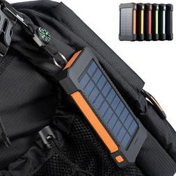 300000mAh Dual USB Portable Solar Battery Charger Solar Powe