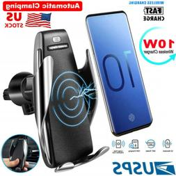 360° Rotate Wireless Auto Clamping Car Fast Charger Phone H