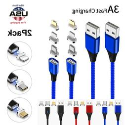 Magnetic Phone Charger Cable  IOS/  Micro USB /USB Type-C Fa