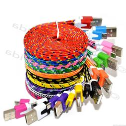 3FT Rope Micro USB Charger Charging Sync Data Cable Cord for