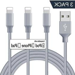 3Pack 6Ft Lightning Cable Heavy Duty For iPhone 8 7 6Plus Ch