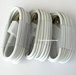 3x 10FT USB Data Sync Charge Charger Cable Cord For iPhone 7