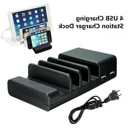 4 Port USB Charging Station Desktop Phone Charger Dock for i