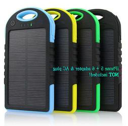 5000 mah Dual-USB Waterproof Solar Power Bank Battery Charge