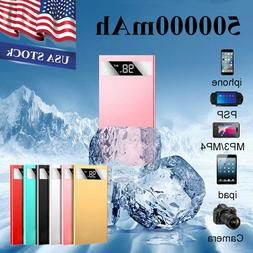 500000mAh LCD Power Bank Portable External 2 USB Battery Cha