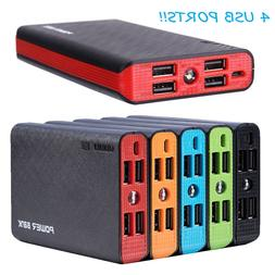20000mah 4 usb external power bank portable