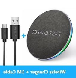 5V 10W Qi Fast Wireless Charger Mat Pad USB For Mobile Phone