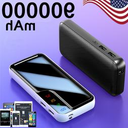 900000mAh Portable Power Bank External Battery Dual USB Char