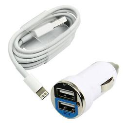 Charging / Sync Kits - 8-Pin Cable +  Car Charger for iPhone
