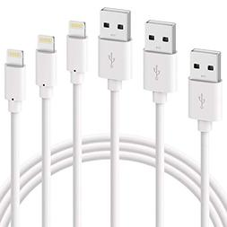 For iPhone Charger, ilikable 3 Pack 6 Foot Lightning Cable F