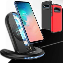 Qi Fast Wireless Charging Charger Stand Case For Samsung S10