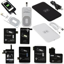 Qi Wireless Charger Charging Pad + Receiver Kit + Adapter Fo