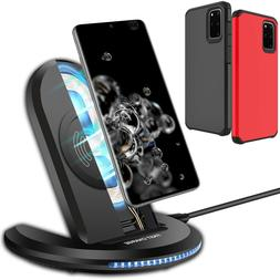Qi Wireless Charger Stand Pad Case For Samsung Galaxy S20+ U