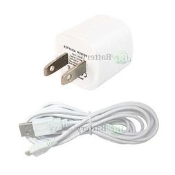 USB 10FT Cable+Wall Charger for Phone Samsung Galaxy S5 S6 S
