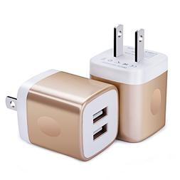 Wall Charger, FiveBox 2-Pack Dual Port USB Wall Charger Bric