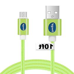 Android charger cable 10 ft, Extra long Nylon usb 2.0 chargi