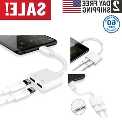 Audio Earphone Adapter and Fast Charger Port AUX Music For I