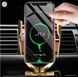 Automatic Clamping Qi Wireless Car Charger Mount Phone Holde